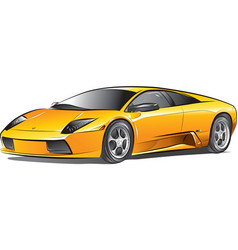 Yellow expensive car vector