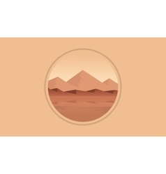 Mountain scenery icon flat vector