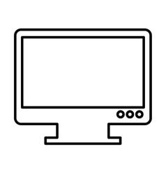 Computer desktop isolated icon vector