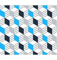 Blue black line pattern on white seamless backdrop vector