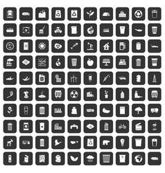 100 ecology icons set black vector