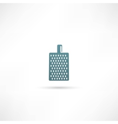 Grater for vegetables and fruits icon vector