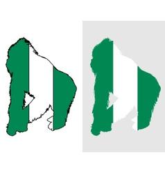 Gorilla Nigeria vector image