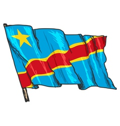 flag of Democratic Republic of the Congo vector image