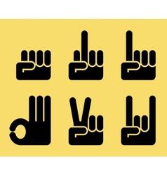 Gesture hands vector