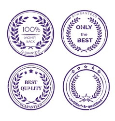 Circular Guarantee Label Set on White Background vector image