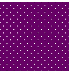 Tile pattern white polka dots on violet background vector image