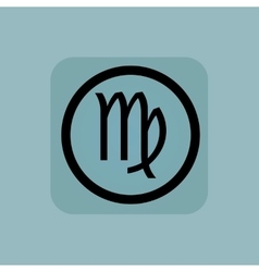Pale blue virgo sign vector