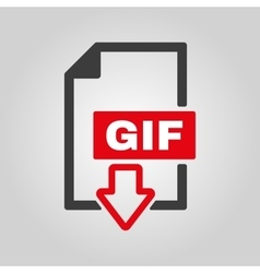 The gif icon file format symbol flat vector