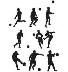 footballer silhouette vector image