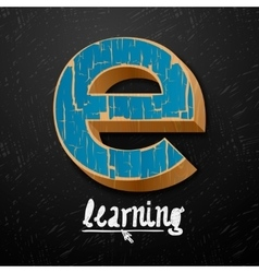 E-learning logtype design vector