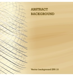 left silver net on golden abstract background vector image
