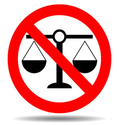 Sign justice ban vector