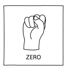 Doodle Zero or Fist icon vector image