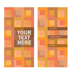 Abstract color-block background with place for tex vector