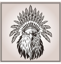 American eagle ethnic indian headdress feathers vector