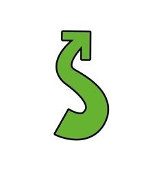 Arrow icon Direction design graphic vector image vector image