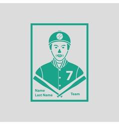 Baseball card icon vector image