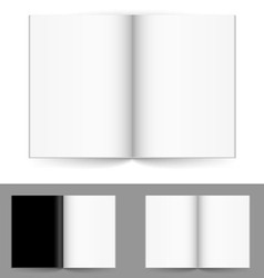 blank magazine vector image vector image