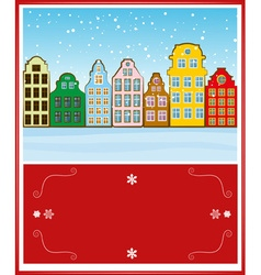 Bright and Colorful Christmas Greeting Card Design vector image vector image