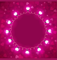 bright background with hearts vector image