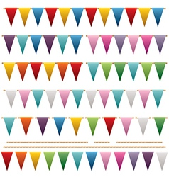Bright triangle bunting vector