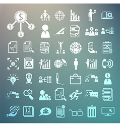 Business icons and Finance icons set2 on Retina ba vector image vector image