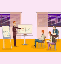 business training composition vector image vector image
