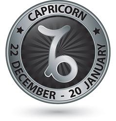 Capricorn zodiac silver sign virgo symbol vector image vector image