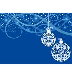 christmas ornaments balls vector image vector image