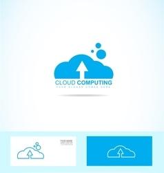 Cloud computing logo icon vector