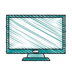Color crayon stripe image lcd monitor desk vector