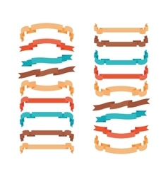 Colorful modern ribbons in trendy style vector image