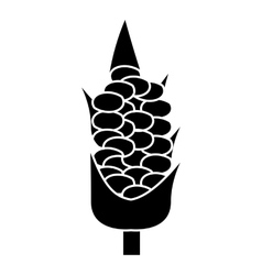 Corn on the cob icon simple style vector