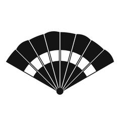 Fan icon simple style vector