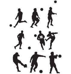 footballer silhouette vector image vector image