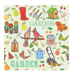 Gardening set seamless pattern vector