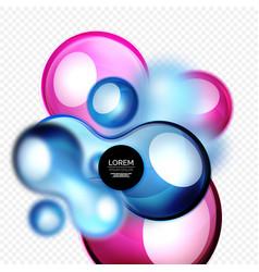 glass bubbles on grey modern techno liquid design vector image vector image