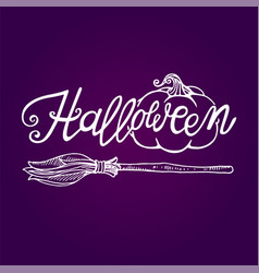 halloween lettering logo vector image vector image