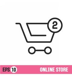 Lines icon basket shop vector image vector image