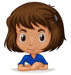 Little girl with big head vector