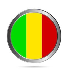 Mali flag button vector