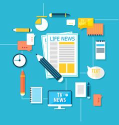 Mass media correspondent infographic concept vector