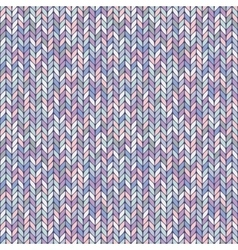 Melange pastel knitted seamless background pattern vector