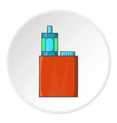 Mod and clearomizer in kit icon cartoon style vector
