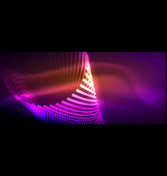 Neon light effects particles vector