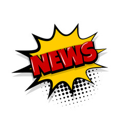 News comic text white background vector