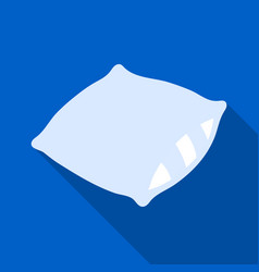 Pillow icon in flate style isolated on white vector