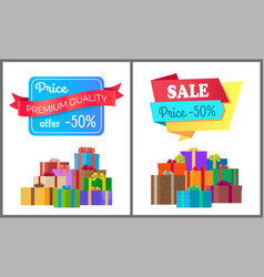 Premium quality price offer special exclusive sale vector