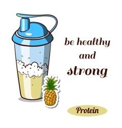 Protein shaker pineapple vector